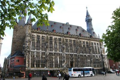 The historic town hall of Aachen, Germany