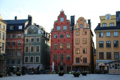 This is the centre of the old town of Gamla Stan: Stortorget