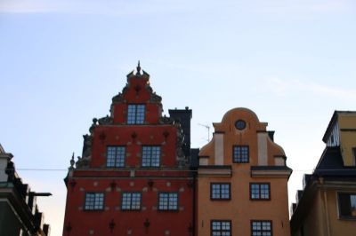 Nice pediments in the old town