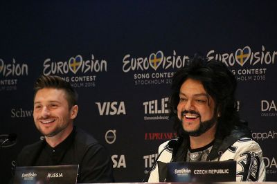 Sergey Lazarev and Philip Kirkorov from Russia