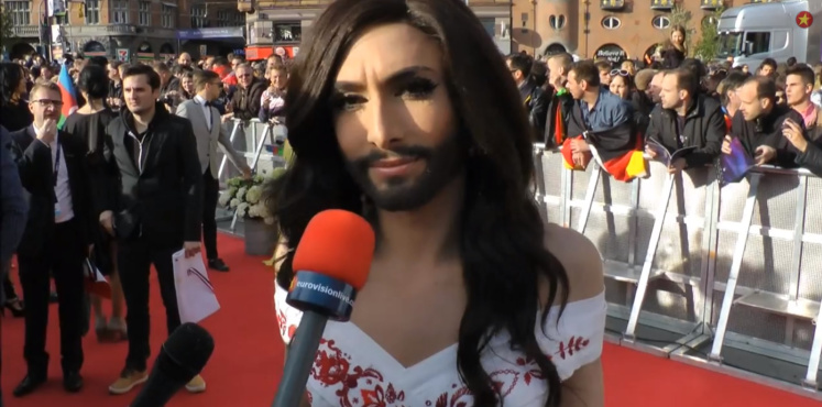 Conchita Wurst on the red carpet ©eurovisionlive.com